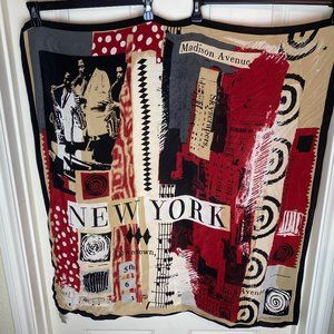 Echo New York Maddison Ave Down Town Jazz Scarf